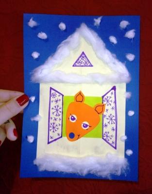 Давайте построим домик из бумаги, в котором будет жить лисичка.