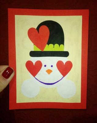 Видели когда-нибудь влюблённого снеговика? Так вот сейчас мы вам покажем такого, и сделаем мы его из бумаги.