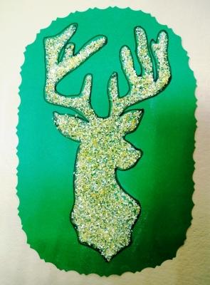 Портрет оленя из кукурузной крупы мы сделаем своими руками!