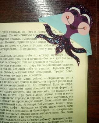 угловая закладка для книг осьминог