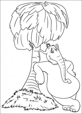 раскраски слоненок Хортон