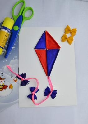 Воздушный змеи из бумаги своими руками