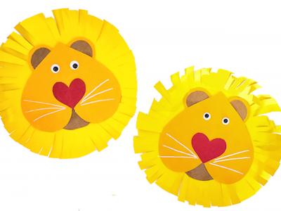 Поделки из цветного картона для детей своими руками, аппликации животных из сердец