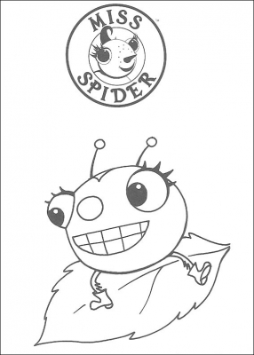 Miss Flora Spider is the title character in the bestselling children's books by David Kirk.