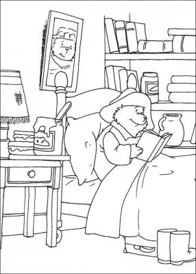 раскраски медвежонок паддингтон