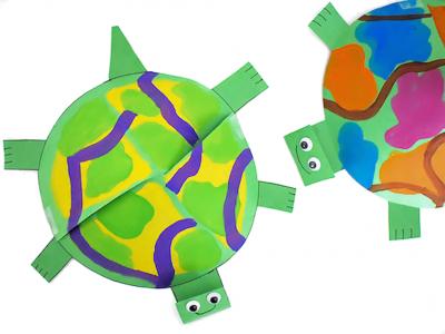 Объёмная поделка черепахи из бумаги своими руками для детей,  фигурки животных из бумаги
