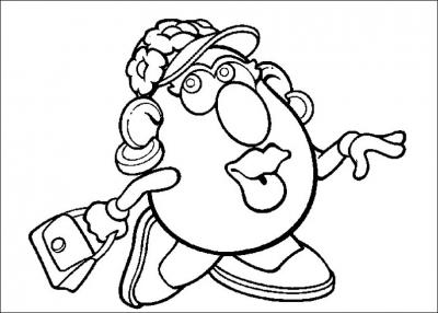 """Очень смешные картофелины в этой подборке раскрасок. Крутые пластиковые игрушки и герои мультфильма """"История игрушек"""", специально для вас. Скачать все разукрашки одним файлом, можно прямо сейчас."""