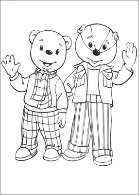 раскраски ля детей медведи