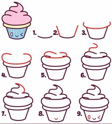 Красивые рисунки для срисовки кексы
