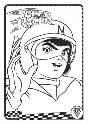 раскраски аниме гонки