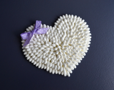 Поделки-валентинки из ватных палочек